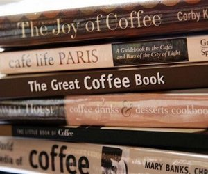 book, coffee, and brown image