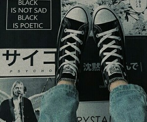converse, tumblr, and black image