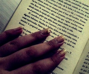books, nails, and quotes image