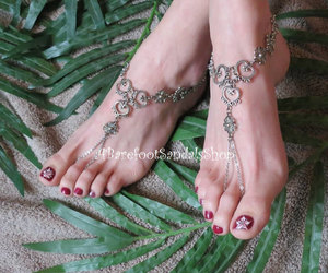foot, heart, and jewelry image