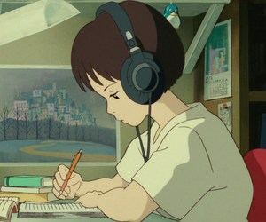 anime, gif, and whisper of the heart image
