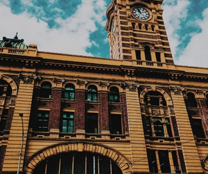 city, clock, and melbourne image