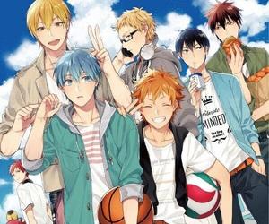 kuroko no basket, haikyuu, and knb image