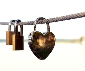 heart, lock, and love image
