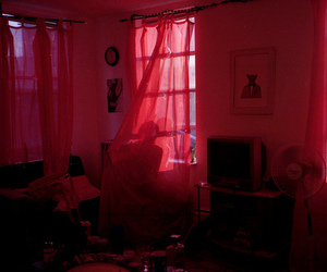 grunge, pink, and red image