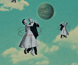 clouds, couple, and dance image