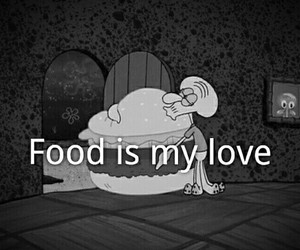 food, love, and spongebob image