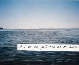 home, quote, and sea image