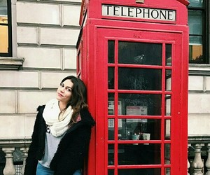 girl, london, and telephone image