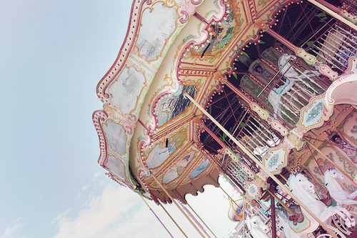 carousel, photography, and pastel image