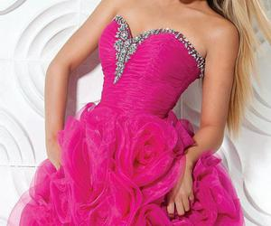 dress, evening dress, and pink image