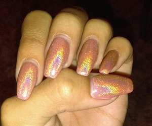 fashion, nails, and holo image