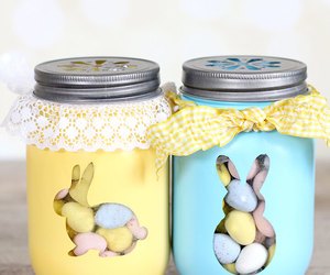 easter, bunny, and eggs image