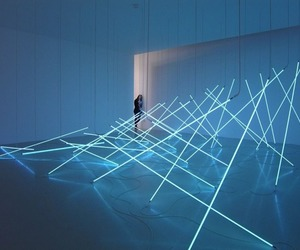 light, neon, and art image