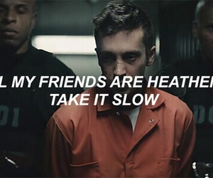 twenty one pilots, heathens, and Lyrics image