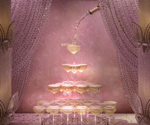 champagne, luxury, and pink image