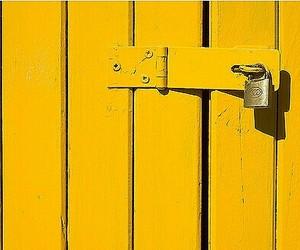 yellow, yellow door, and yellow lock image