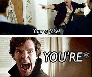 sherlock, funny, and moriarty image