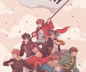 bts, not today, and fanart image