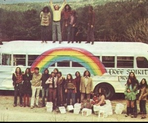 hippie, rainbow, and peace image