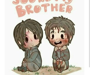 brothers, twd, and the walking dead image