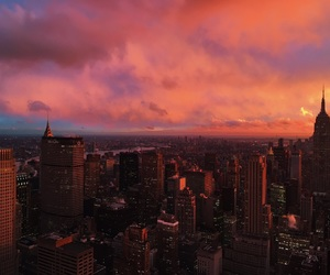 buildings, cities, and sunset image