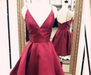 prom dresses, burgundy prom dresses, and party dresses image