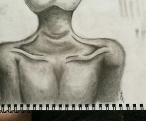 body, drawing, and pencil image