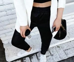 adidas, coffee, and nails image