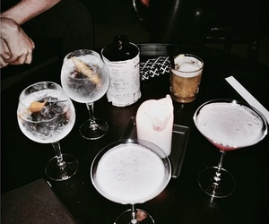 drinks, dark, and tumblr image