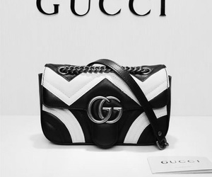 bags, blackandwhite, and gucci image