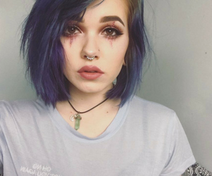amazing, blue hair, and makeup image