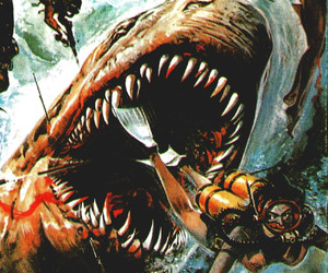 jaws, shark, and horror image