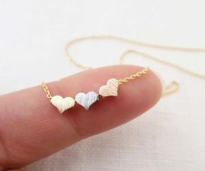 bijoux, heart, and necklace image