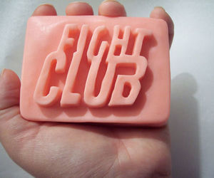 fight club, pink, and soap image