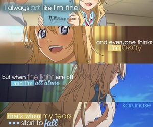 anime, quote, and your lie in april image