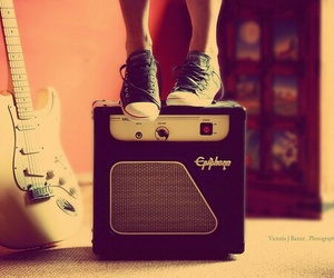 girl, music, and shoes image