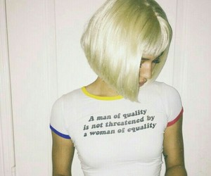 blonde, feminism, and equality image