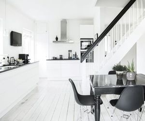 interior, kitchen, and black image