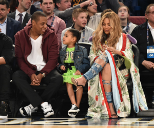 blue ivy and beyoncé image