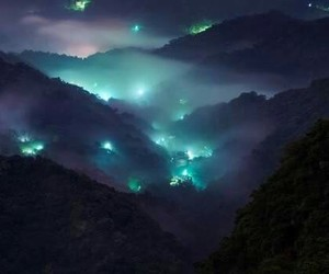 aesthetic, mountains, and lights image
