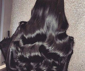 hair, black, and brunette image