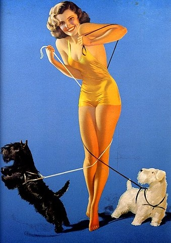 glamour, Pin Up, and illustration image