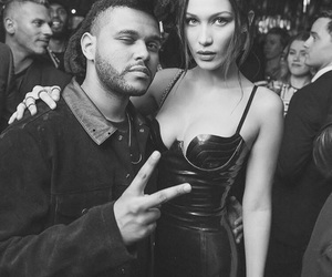 bella hadid, the weeknd, and model image