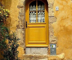 yellow, aesthetic, and door image