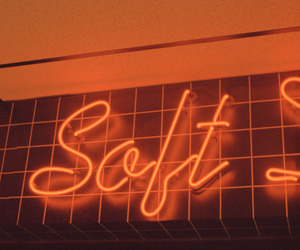 orange, aesthetic, and neon image