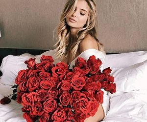 roses, flowers, and girl image