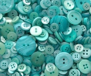 buttons, aesthetic, and turquoise image