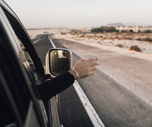 car, freedom, and hand image