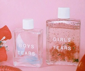 pink, boy, and tears image